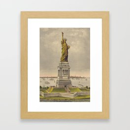 Currier & Ives. - Print c.1885 - Statue of Liberty 1 Framed Art Print