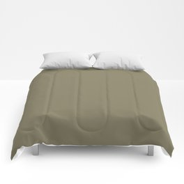 Simple Solid Color Army Brown All Over Print Comforters