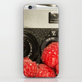 Raspberry Rollei iPhone Skin
