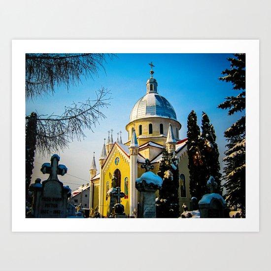 Orthodox Church in Brasov, Romania Art Print