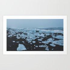 Ice & Sand Art Print