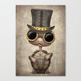Cute Steampunk Baby Turtle Canvas Print