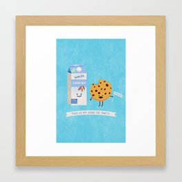 Milk and Cookie Framed Art Print