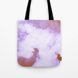 DREAMY PINK AND WHITE RAINBOW CLOUDS Tote Bag