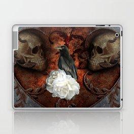 Wonderful crow with skulls Laptop & iPad Skin