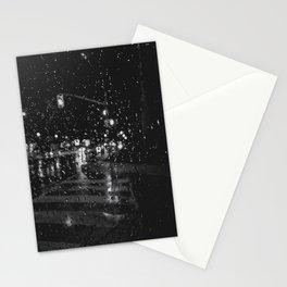 RAINY BOKEH B&W Stationery Cards