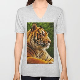 Gracious Fascinating Fearsome Beast Chilling Zoom UHD Unisex V-Neck