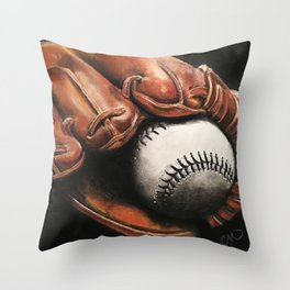 Baseball and Glove Throw Pillow