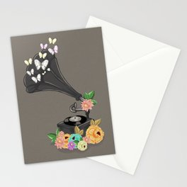 Gramaphone Bloom Stationery Cards