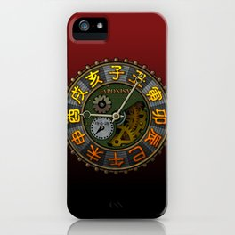 Japonism clock 1 iPhone Case