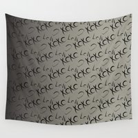 xoxo Wall Tapestries featuring XOXO  by GoAti