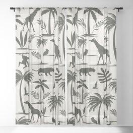 Jungle Safari Sheer Curtain
