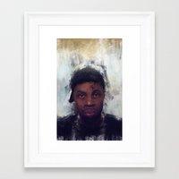 j dilla Framed Art Prints featuring J-Dilla by 炎リュウ