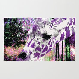 GIRAFFE FANTASY ENCOUNTER FOREST DREAM Rug