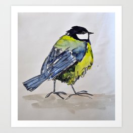 bird on a walk Art Print