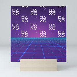 Vaporwave Playstation Neon Aesthetic Mini Art Print
