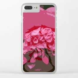 Pink Camelia Clear iPhone Case