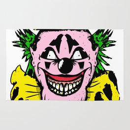 Crazy Colorful Clown Rug