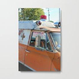 Old Ambulance Metal Print