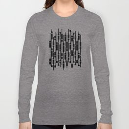 Spells - Geometric Pattern (Black) Long Sleeve T-shirt