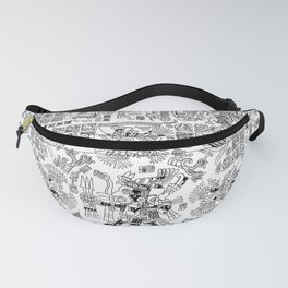 Mayan Spring B&W Fanny Pack