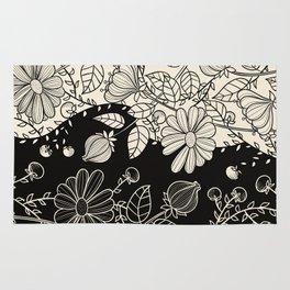 FLOWERS EBONY AND IVORY Rug
