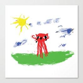 Octocat Happy Canvas Print