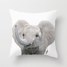 Elephant Calf Art Throw Pillow