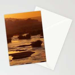 Golden hour in Africa Stationery Cards