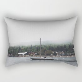 Sailboat and the Fog Rectangular Pillow