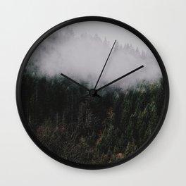 Forest Fog IV Wall Clock