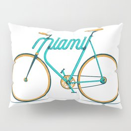 Miami Typo - Bike Pillow Sham