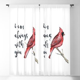 I Am Always With You, Cardinal Blackout Curtain