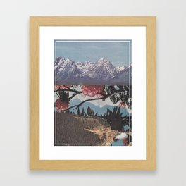 Floral Lake Framed Art Print
