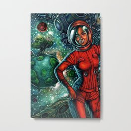 The Astronaut Metal Print