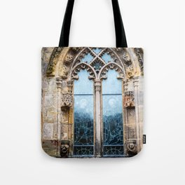 Stained glass window of Rosslyn Chapel outside Edinburgh, Scotland Tote Bag