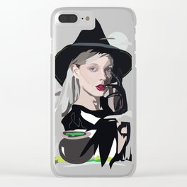 Halloween Witch Clear iPhone Case