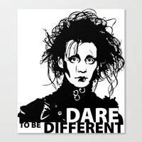 edward scissorhands Canvas Prints featuring Edward Scissorhands by Mad42Sam