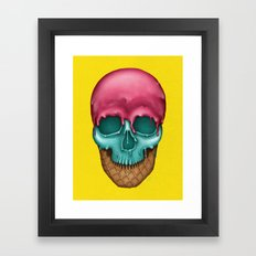 Skull Icecream Framed Art Print