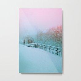 Balcon enneigé Metal Print