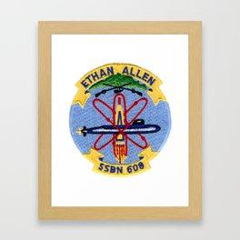 USS ETHAN ALLEN (SSBN-608) PATCH Framed Art Print