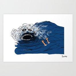 Crazy Wave Art Print