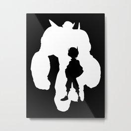 Big Hero 6 Silhouette Metal Print