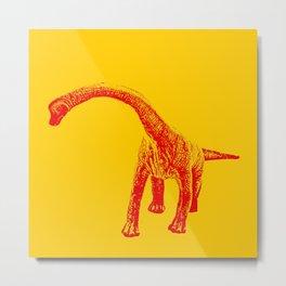 Vintage Toy Dinosaur  |  Brontosaurus Metal Print