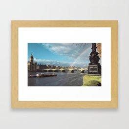 End of the Rainbow. Framed Art Print