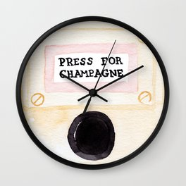 Press For Champagne Wall Clock