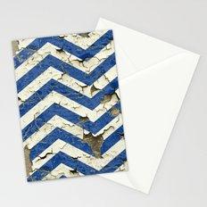 Peeling Chevrons Blue Stationery Cards