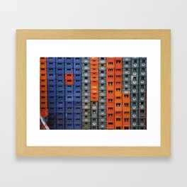 Crates in Morocco Framed Art Print