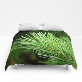 White pine branch Comforters
