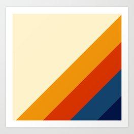 Retro Lines Diagonal Art Print